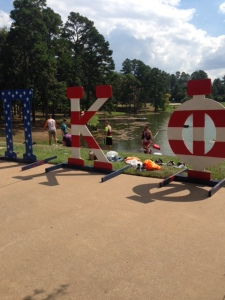 The brothers of Theta Pi enjoying a great day on the UT Tyler campus during their annual