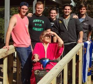 Pi Kapps construct third wheelchair ramp this Fall