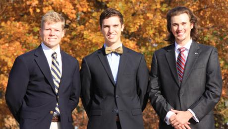 Three UT Tyler Pi Kapps named Morgan 'Extra Mile' scholars